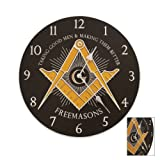Freemason's Wall Clock Black, Outdoor Stuffs