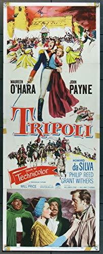 (Tripoli (1950) Original U.S. Insert Movie Poster 14x36 JOHN PAYNE MAUREEN O'HARA HOWARD DA SILVA Film directed by WILL PRICE Send in THE MARINES! )
