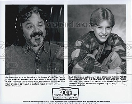 """1997 Throw one's arms about Photo Jim Cummings, Brady Bluhm, voices """"Pooh's Grand Adventure"""""""