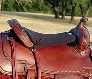 "Cashel Western Long Tush Cushion - Size: 1/2"" Thick Foam Color: Black"