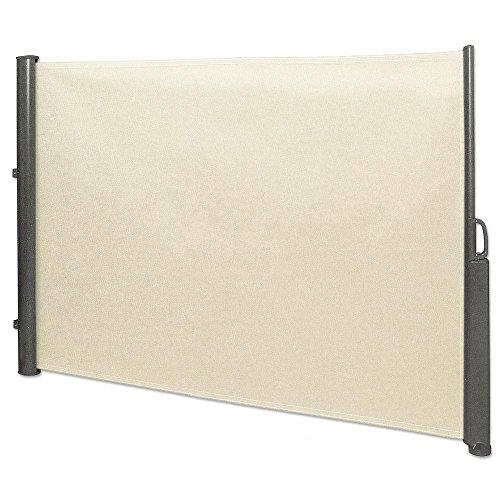 Seitenmarkise 1,8 x 3,5 m beige Sichtschutz Seitenwandmarkise Windschutz