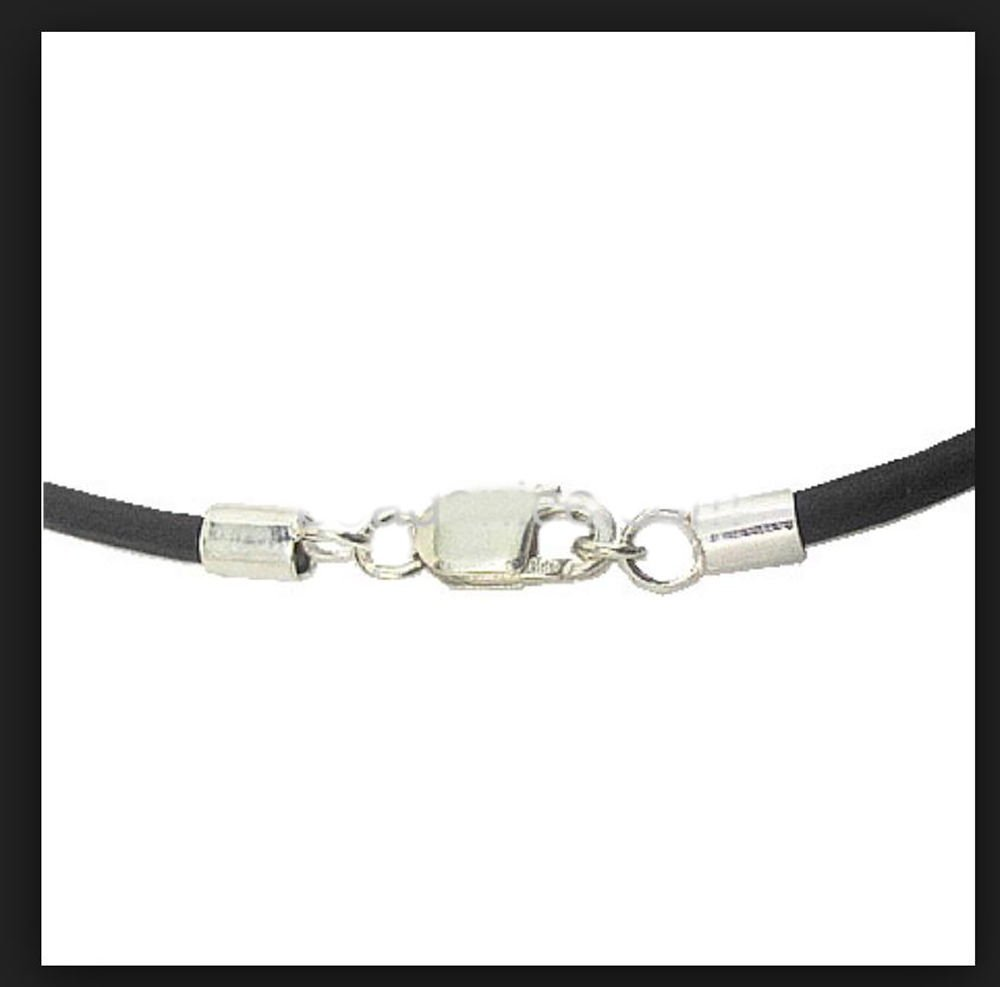 5pcs Sterling Silver End Caps Endcap with Lobster Clasp for 3.5mm to 4mm Leather Cord Beading Wire SS293