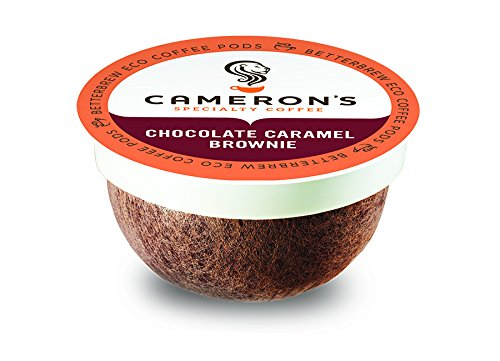 Cameron's Coffee Single Serve Pods, Flavored, Chocolate Caramel Brownie, 18 ()