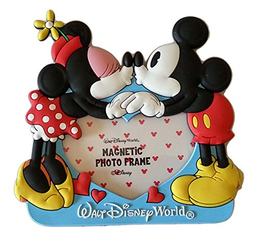Disney Parks Soft Touch Magnetic Picture Frame - Mickey & Minnie Kiss ()