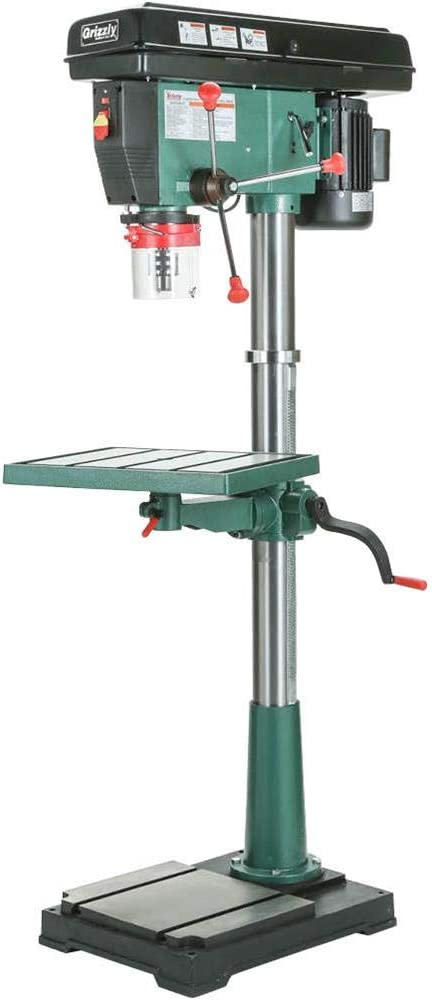 Grizzly G7948 12 Speed Floor Drill Press, 20-Inch