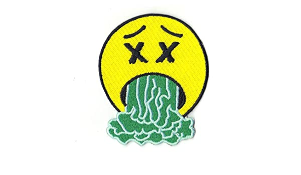 958f94fda73d Amazon.com: Astroworld Sicko Mode Puke Emoji Logo Embroidered Iron On Patch:  Arts, Crafts & Sewing