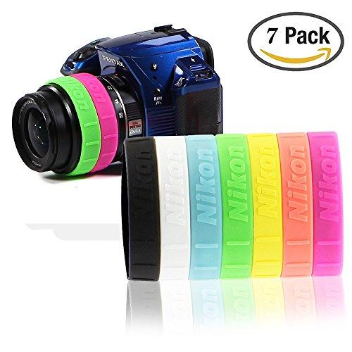 Selens 7pcs Silicone Lens Rubber Ring Bracelet Wristbands...