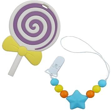 Inchant juguete Lollipop Mordedor con el bebé Chupete cadena ...