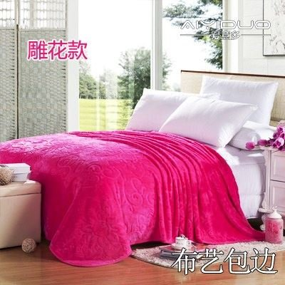 Znzbzt small blanket afternoon nap office single cute mini cover and small blankets winter student adult thick warm ,230x250cm [thick package of health, peach red