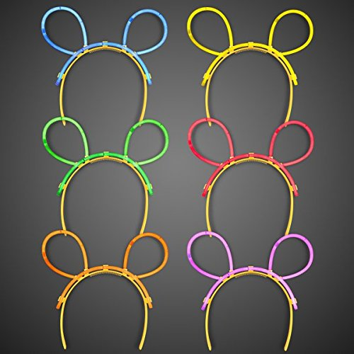 Premium Glow Mouse Ears Headbands in Assorted Colors
