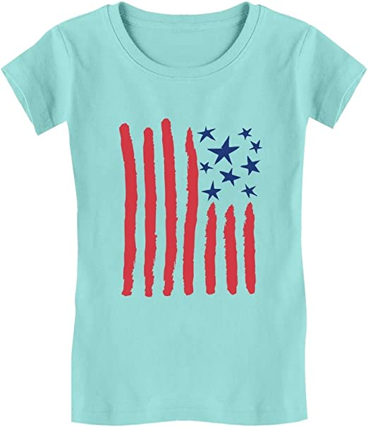 TeeStars Love USA 4th of July American Heart Flag Toddler//Kids Sweatshirts