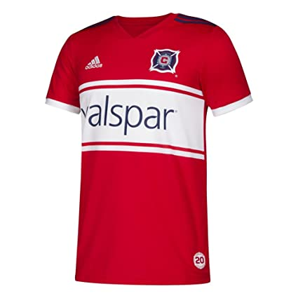 new style 062a5 4b687 Amazon.com : adidas Youth Chicago Fire Soccer Jersey Home ...