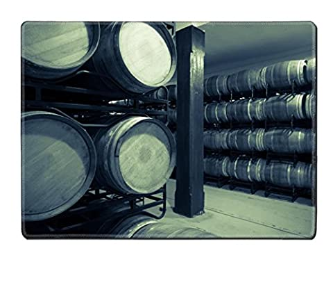 Luxlady Placemat IMAGE ID 31728885 Vintage photo of old wine cellar with many barrels - Rioja Wine Cellar
