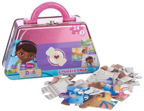 Disney Doc McStuffins 3 Puzzle Pack Tin (Doc Mcstuffins Gift Bag)
