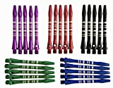 Aluminum Long Dart Shafts Wholesale Dart Stems 2BA Throwing - 5 Colors 25...