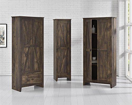Ameriwood Home 7531096COM Farmington Wide Storage Cabinet, 18'', Rustic by Ameriwood Home (Image #4)