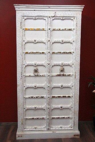Kleiderschrank, Kolonialstil, Schrank, Kolonial, Antik, Holz, Weiß