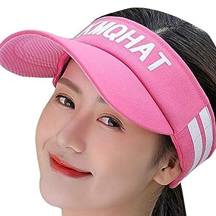 Amazon.com   KOROWA Sports Wide Brim Caps Letters Visor Sun Cap Hat  Adjustable Tennis Men Women Wearing Baseball Hats   Garden   Outdoor 6b5251b4c15