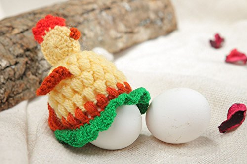 - Handmade Easter Decorative Chicken For One Egg Crocheted Of Wool And Acrylics
