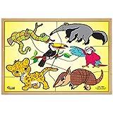 Quebra Cabeça Animais Da Fauna Brasileira -Base Mdf Com 6 Pecas - Pvc Enc