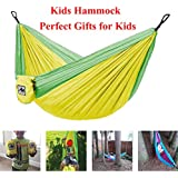 ayamaya Kids Camping Hammock Outdoor Gifts Stuff for Kid Child Girls Boys Toddlers, Ultralight Small Size Mini Hammocks with Strap & Carabiner Sling Swing Tree Hammock for Indoor Outside Backyard