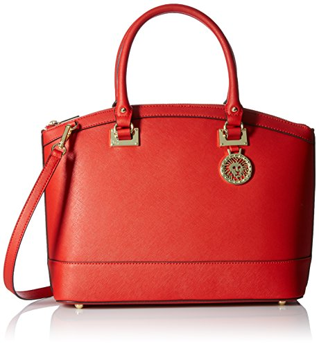 Anne Klein New Recruits Large Dome Satchel, Fire Red (New Red Handbag)