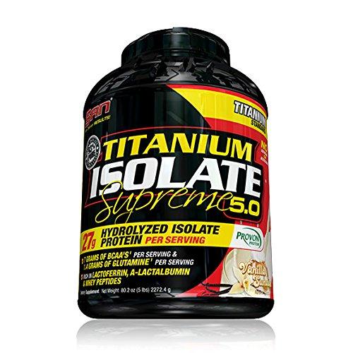 SAN Titanium Isolate Supreme Nutritional Supplement, Vanilla Sundae, 79 Ounce by SAN Nutrition B00F1HDLQ2