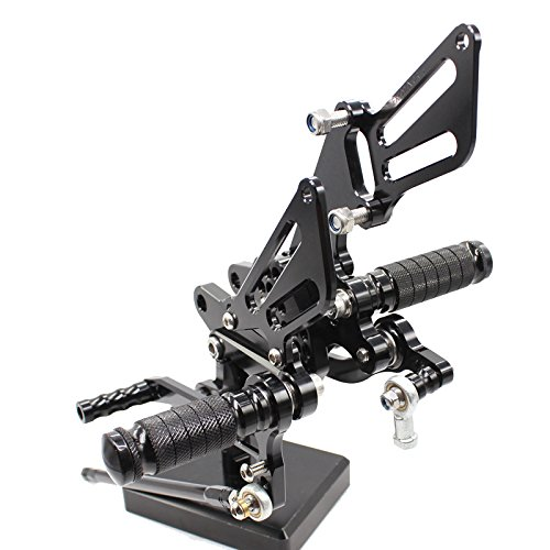 - FXCNC Racing Billet Motorcycle Rearset Foot Pegs Rear Set Footrests Fully Adjustable Foot Boards Fit For Kawasaki ZX10R ZX-10R 2006 2007 2008 2009 2010