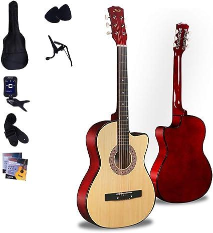 Boll-ATur Kit for principiantes de guitarra acústica de 38 ...