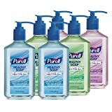 PURELL Brand HEALTHY SOAP Variety Pack, Clean and Fresh/Soothing Cucumber/Fresh Botanicals Fragrances, 12 fl oz Soap Counter Top Pump Bottles (Pack of 6) - 9701-04-EC