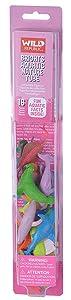 Wild Republic Bright Aquatic Animals, Nature Tube, Ocean Toys, Vibrant Colors, Fantasy Figures, Kids Gifts, 16- Pieces