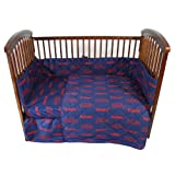 Ole Miss Rebels 5 Piece Crib Set - Entire Set includes: (1) Reversible Comforter, (1) Bed Skirt , (2) Fitted Sheets and (1) Bumper Pad - Decorate Your Nursery and Save Big By Bundling!
