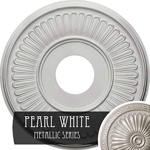 Medallion Ceiling Pearl - Ekena Millwork CM15BEPWS Berkshire Ceiling Medallion, Pearl White