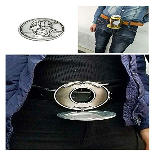 TTbuy Water Bottle Belt Clip Holder Beer Head Belt Cans Buckle Cup Holder On Belt Portable Metal Belt Cup Holder Beer Drink Cup Holder Fish (Silver A) (Cup Holder Buckle)