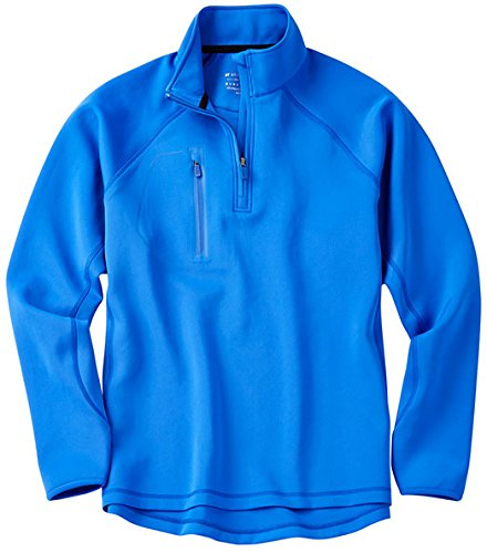 Bobby Jones Men's Xh2O Performance Crawford Pullover Golf Jacket, Marina Blue, Large by Bobby Jones