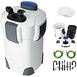 Canister Filter 265 GPH for Fresh/Salt Water 75 Gallon Aquarium 3-Stage External