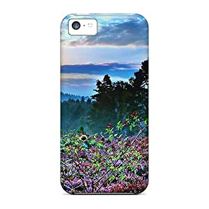 Fashion Protective Bloom Of Flower Case Cover For Iphone 5c