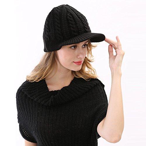 de Hecho de Maozi Mano Punto 1 a Invierno Moda 3 Jacquard Sombrero q00wXp