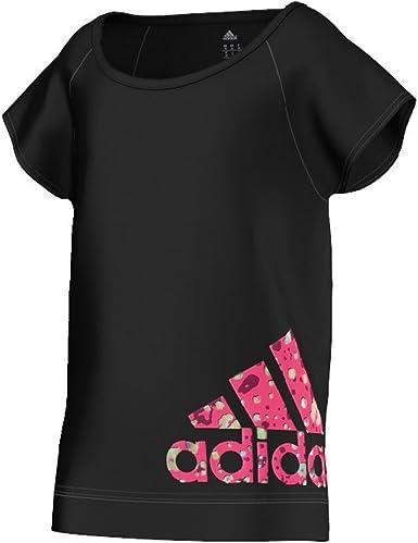 adidas - Camisa deportiva - para mujer negro 6 años: Amazon ...