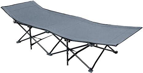 AMANKA Catre de Camping Plegable Cama para IR de Acampada Broncearse + Bolsa para Transporte | 10 piernas catre de Campamento portátil | Estructura de ...