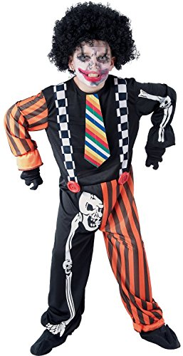 U LOOK UGLY TODAY Boys Halloween Costume Wicked Clown Scary Cosplay for Kids Cosplay Dress Up Party