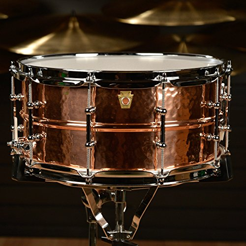 Ludwig Copper Phonic Hammered Snare Drum 14 x 6.5 in. Copper Finish with Tube Lugs by Ludwig