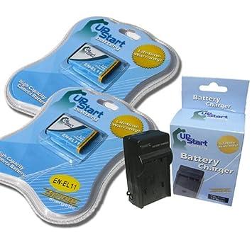 Amazon.com: 2 x Pack – Olympus FE-370 de la batería + ...