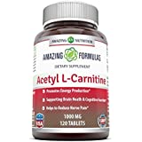 Amazing Formulas Acetyl L-Carnitine - 1000mg, 120 Tablets - Mitochondrial Energy Optimizer