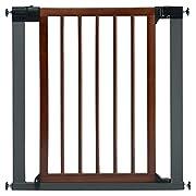 Munchkin Wood and Steel Designer Baby Gate, Dark Wood/Silver, Model MK0007-012