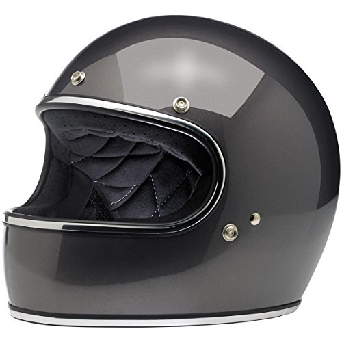 t Full-Face-Helmet-Style Metallic Gringo DOT Certified Full-Face Helmet (Charcoal, Medium) (Metallic Dot Helmets Motorcycle)