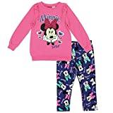 Minnie Mouse Girls 2-Piece Fleece Top With Legging Outfit Set (3 Toddler)