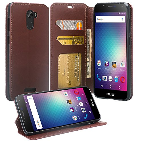 Coolpad REVVL Plus Case (T-Mobile), REVVL Plus Wallet Case, SOGA [Pocketbook Series] PU Leather Magnetic Flip Design Wallet Case for Coolpad REVVL Plus - Luxury Brown