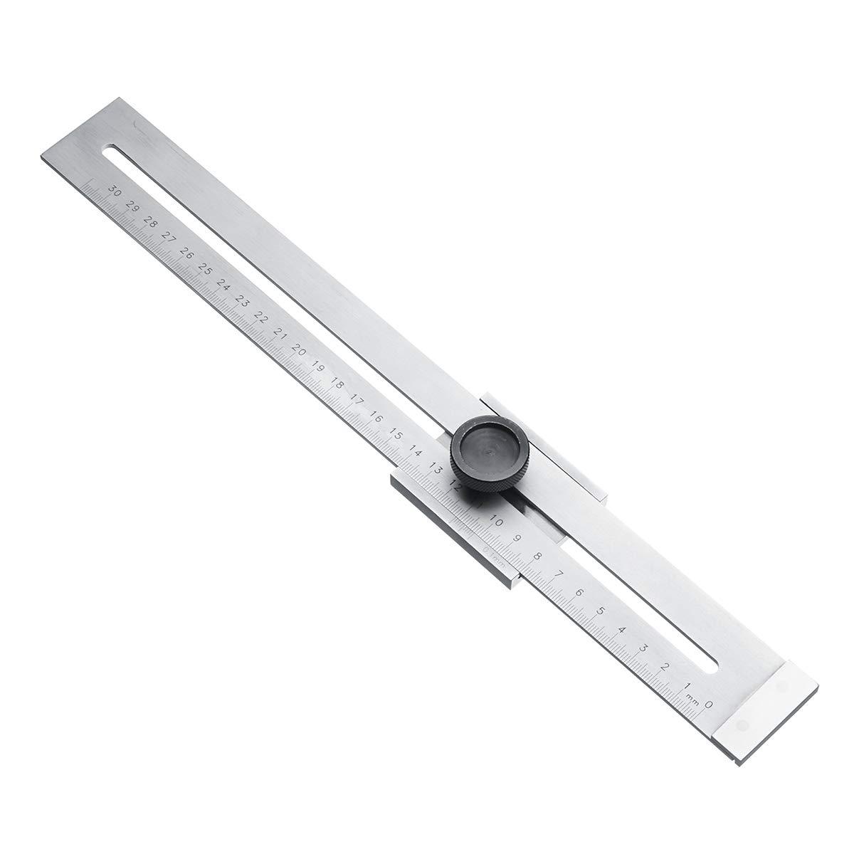Marking Gauge Sevenmore Carbon Steel 0.1mm Precision Parallel Ruler Marker Marking Gauge Line Ruler 300mm
