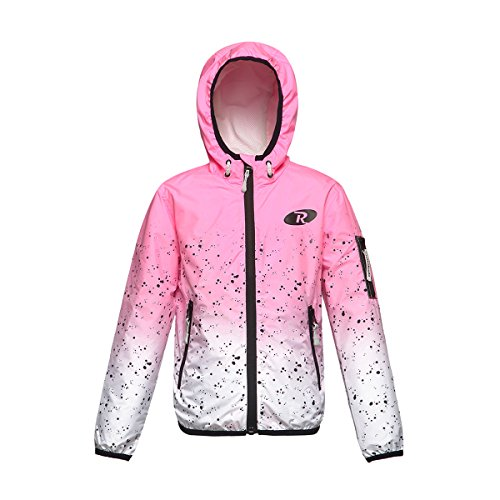 Rokka&Rolla Girls' Lightweight Water Resistant Zip-up Hooded Windbreaker Jacket by Rokka&Rolla